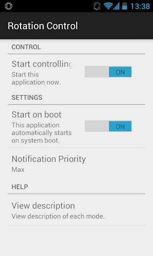 Rotation Control 1.0 screenshots 2