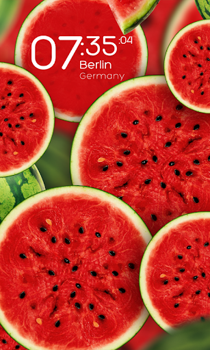 Watermelon clock wallpaper HD