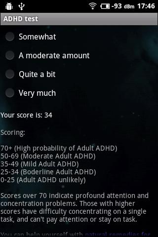 add adult self test