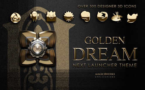 Next Launcher Theme Golden D