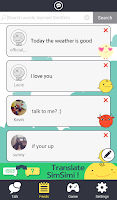 Screenshot of SimSimi