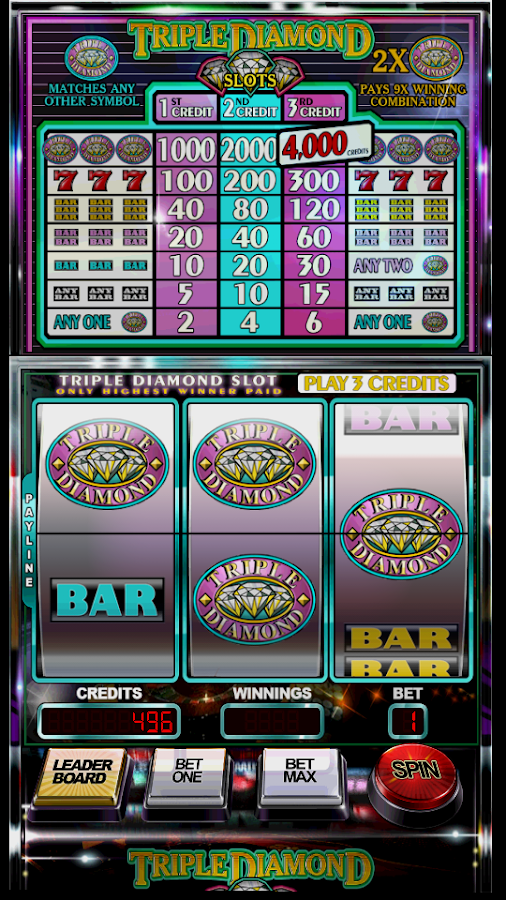 play free triple diamond penny slot machines