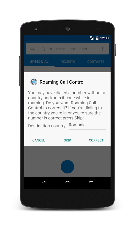 Roaming Call Control - screenshot