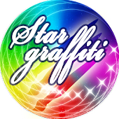 Star Graffiti-paint with stars