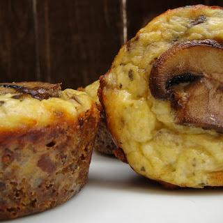 Mushroom and Sourdough Crusted Cremini Mini Quiches.