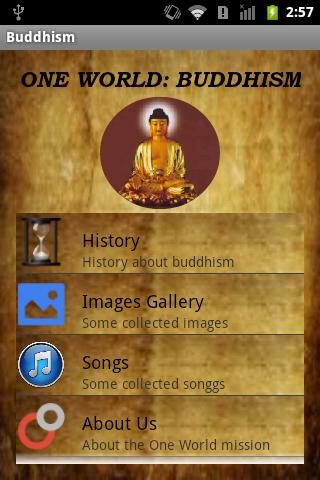 Buddhism: One World
