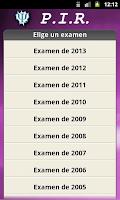 Screenshot of PIR