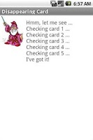 Screenshot of Disappearing Card Lite (Magic)