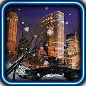 Winter New York live wallpaper
