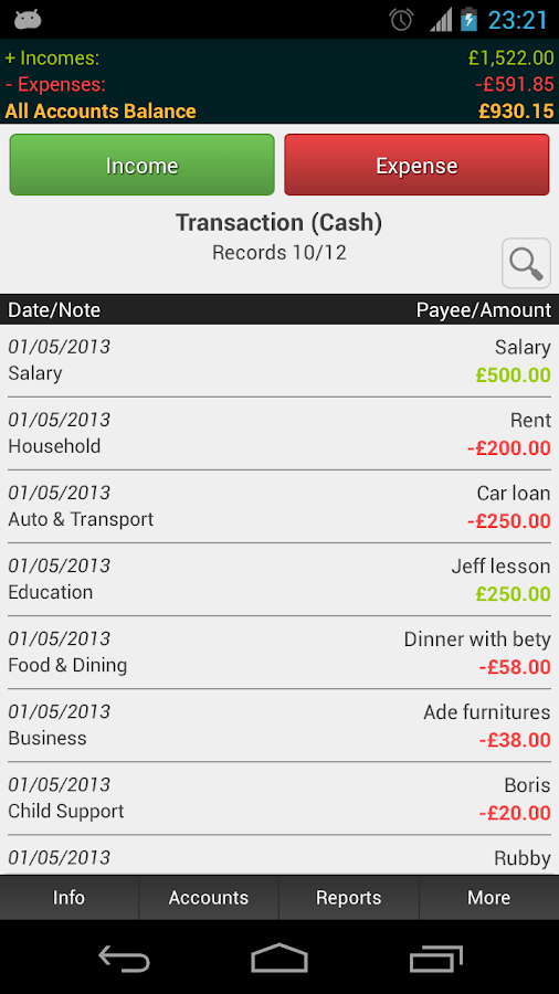 MoneyPro - Expense Manager - screenshot