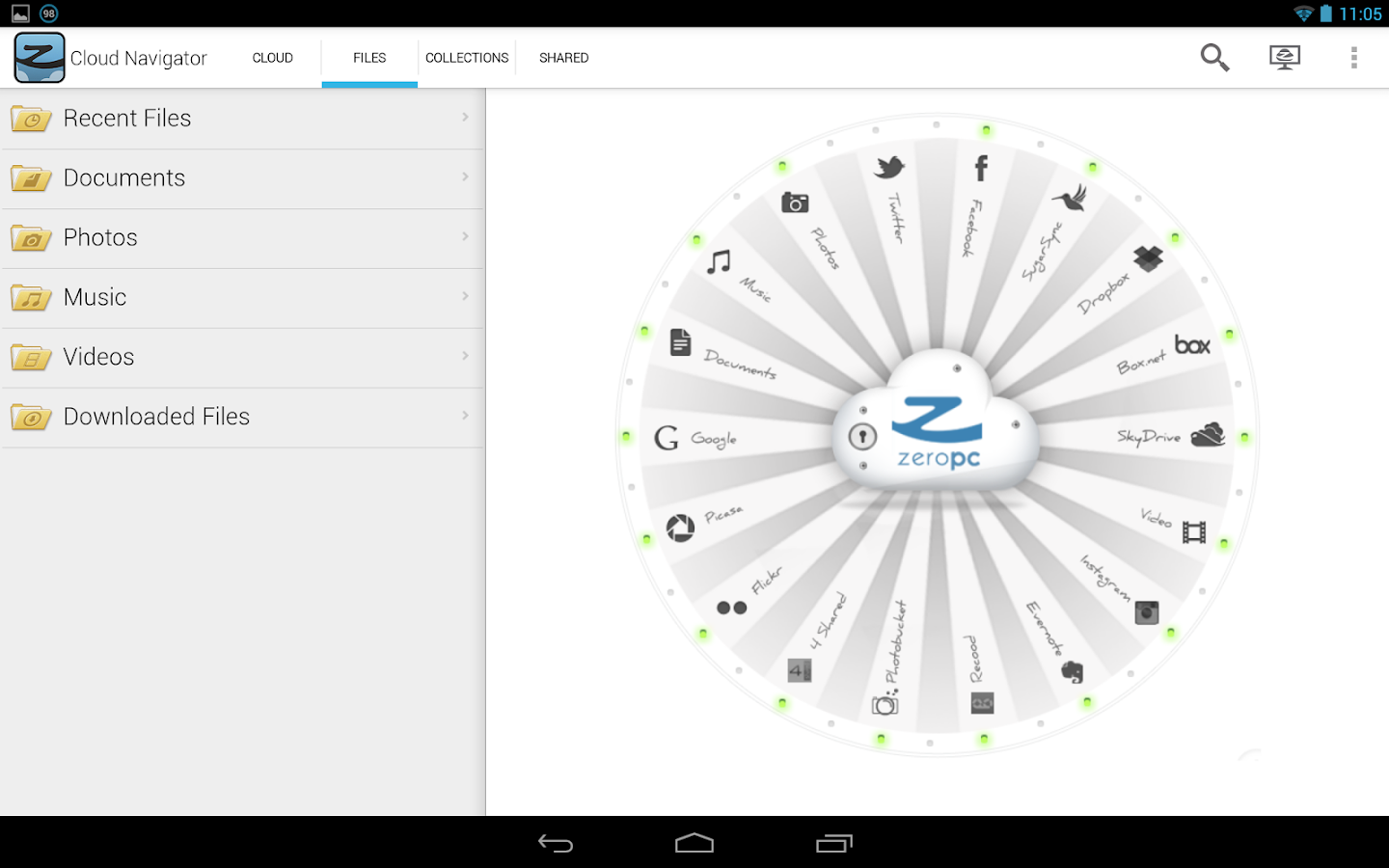 ZeroPC Cloud Navigator - screenshot