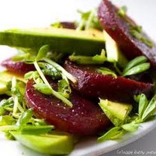 Delicious Beet & Avocado Salad.