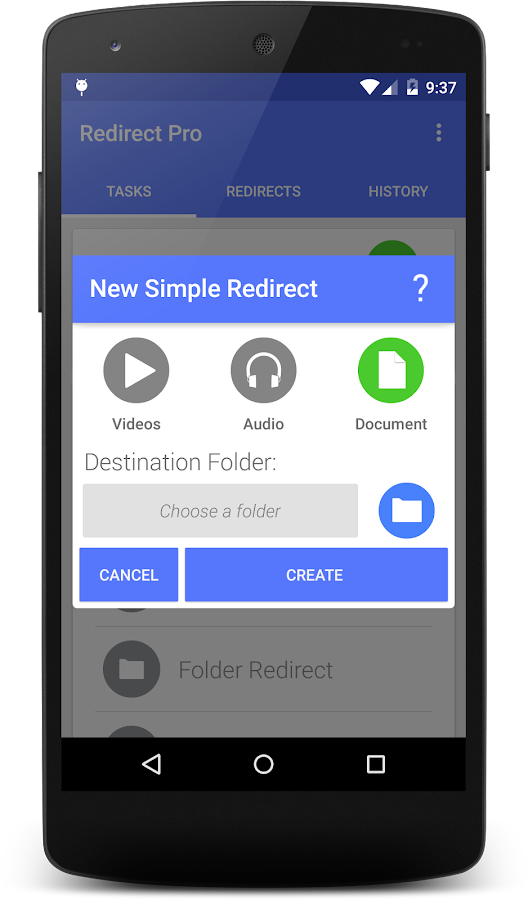 Redirect File Organizer - screenshot