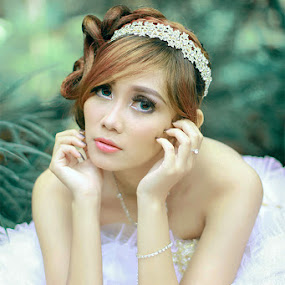 tyas by Benaya Agung - Wedding Bride ( fashion, model, girl, beauty, bride, people )