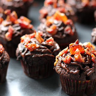 Bacon and Chocolate Cupcakes with Nutella Ganache