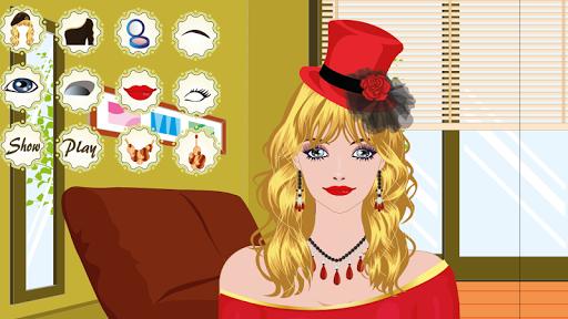 酒会化妆游戏