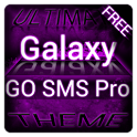 Purple Galaxy GO SMS Theme icon