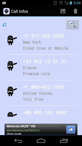 Call Infos