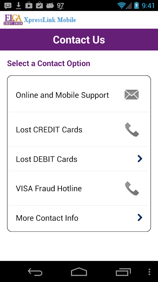 ELGA Xpresslink Mobile Banking - screenshot