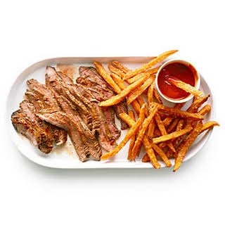 Chile-Glazed Steak with Spicy Ketchup.