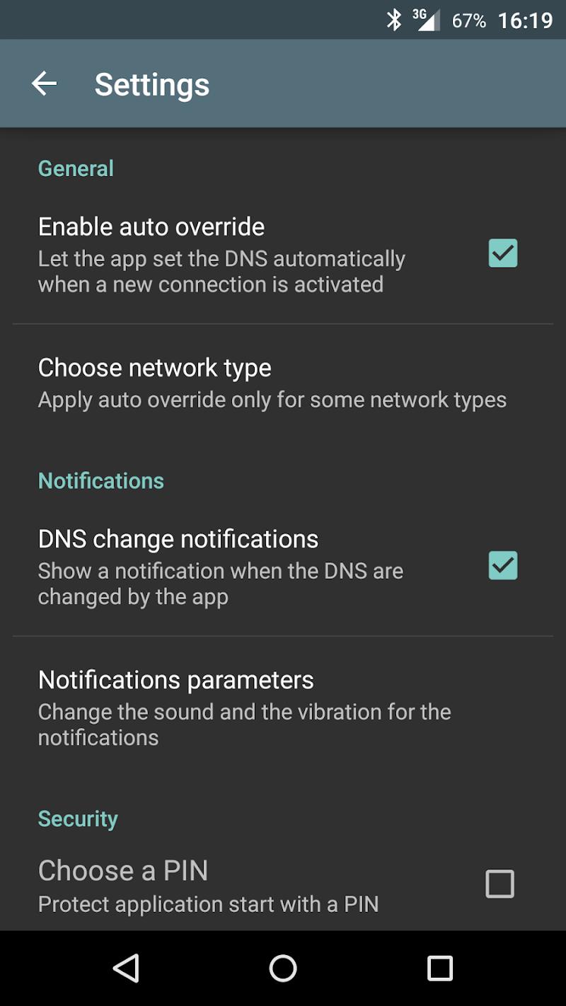 Override DNS (a DNS changer) Screenshot 3