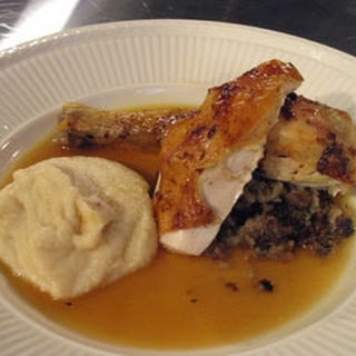 Roast Chicken with Chestnut Stuffing and Gravy Recipe