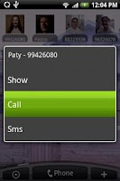 Screenshot of Contact Widget