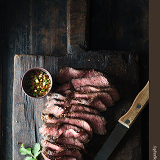 Grilled Beef with Ginger Lemongrass Dipping Sauce.
