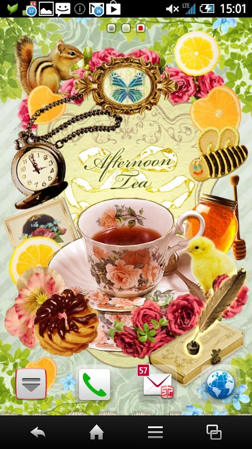 Afternoon Tea Time Wallpaper - screenshot