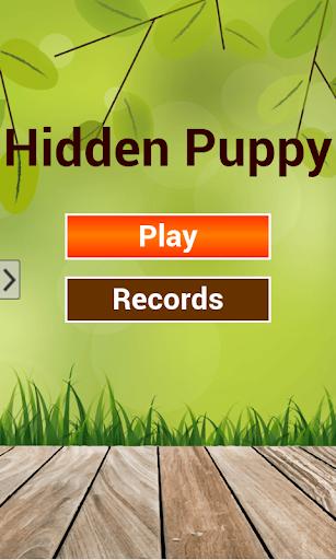 Puppy hidden