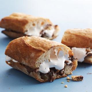 Hazelnut Smores Sandwich.