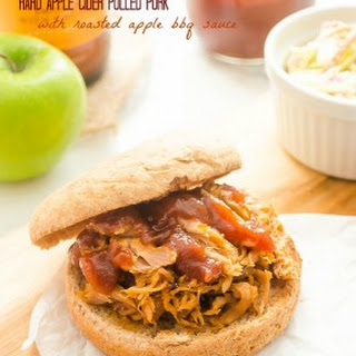 Hard Apple Cider Pulled Pork with Roasted Apple Barbecue Sauce
