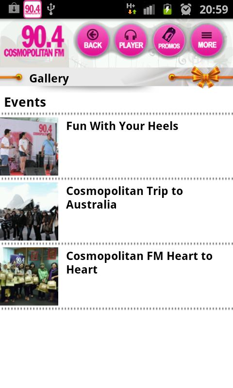 Cosmopolitan FM - screenshot