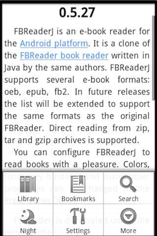 Ebook Reader- screenshot