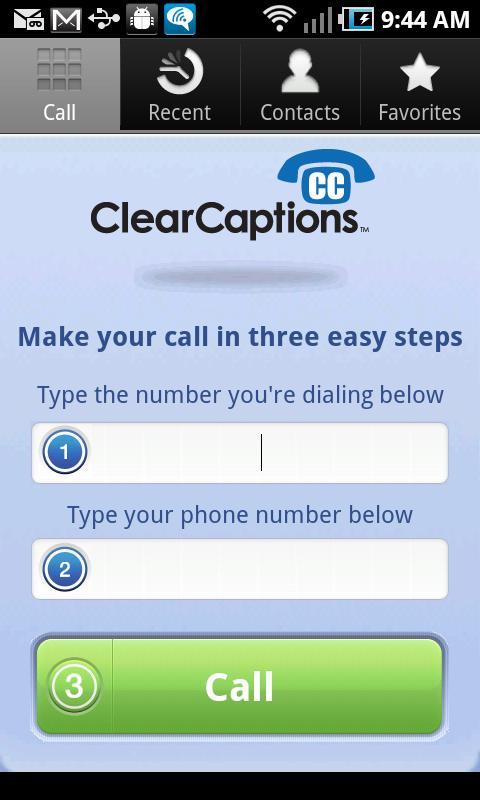 ClearCaptions- screenshot