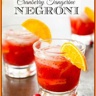 Cranberry Tangerine Negroni
