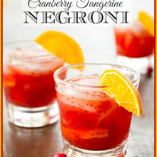 Cranberry Tangerine Negroni.