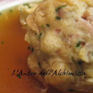 Speck Dumpling Soup.