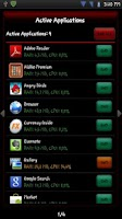 Screenshot of Active Apps / Task Manager