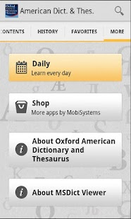 Oxford American & Thesaurus - screenshot thumbnail