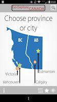Screenshot of GoExplore Canada