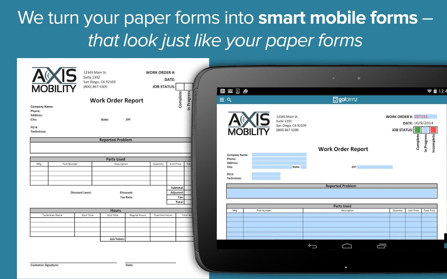 GoFormz Mobile Forms & Reports - screenshot