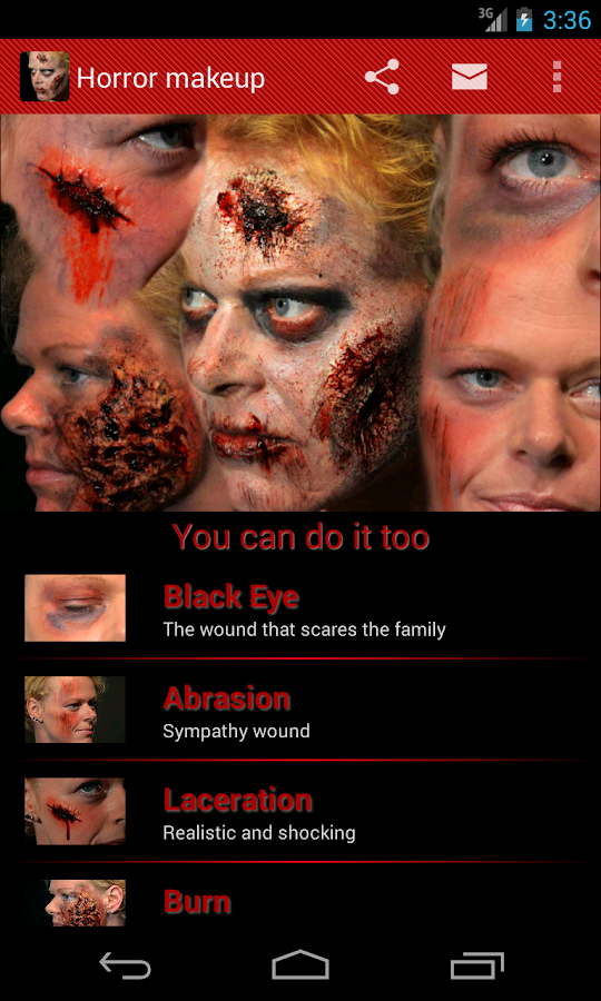 Halloween Horror Makeup- screenshot
