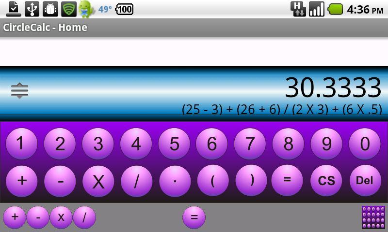 CircleCalc 1.0- screenshot