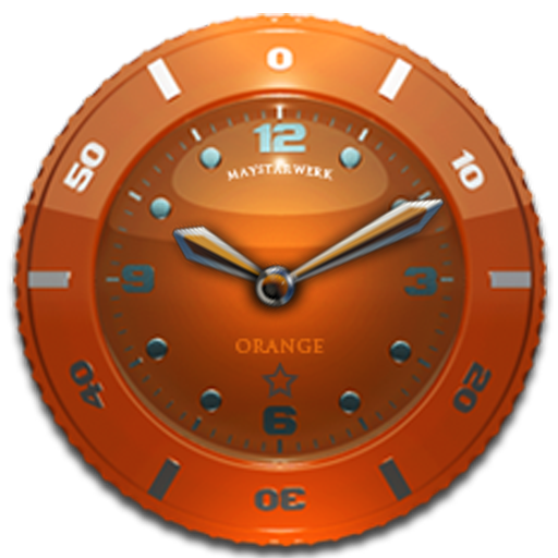 Clock Widget Orange Star