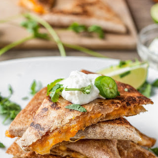 Pumpkin Quesadillas with Lime-Jalapeño Yogurt