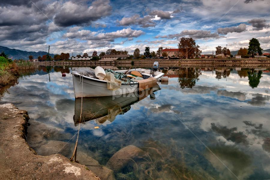 by Stjepan Jozepović - City,  Street & Park  Neighborhoods ( clouds, water, ship, croatia, metkovic,  )