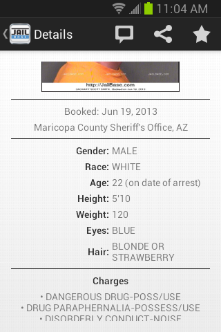 JailBase - Arrests + Mugshots- screenshot