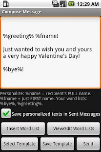 Mass Text Personalizer - screenshot thumbnail