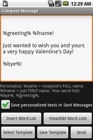 Mass Text Personalizer - screenshot